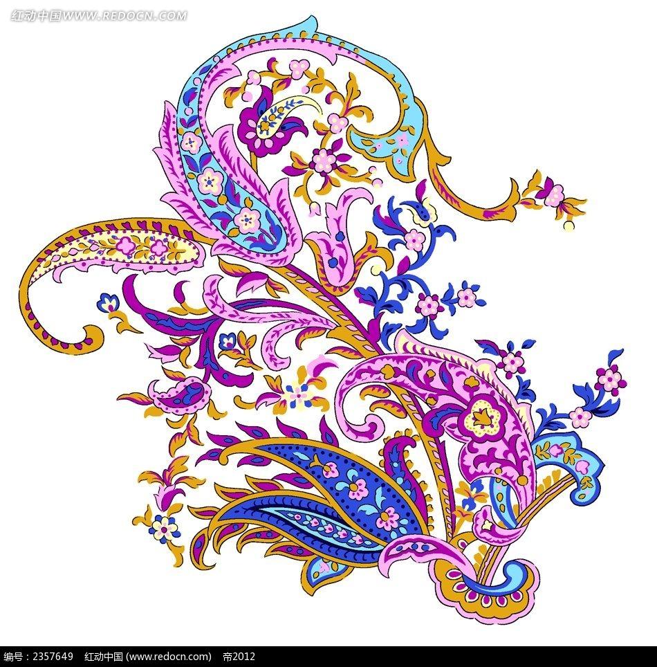 凤凰图案素材-图案叠加素材 青花瓷图案素材 ps图案叠加素材包下载 ps