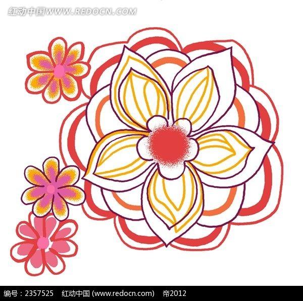 手绘简笔花