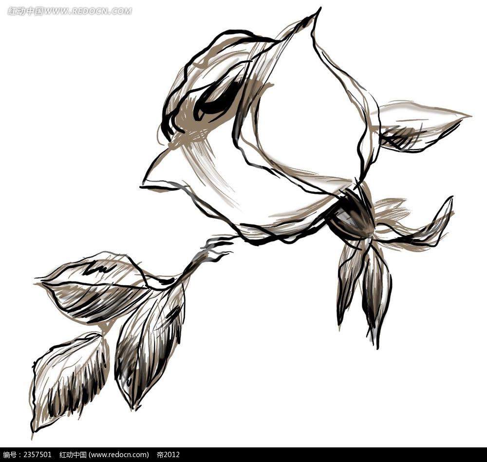 涂鸦手绘玫瑰花