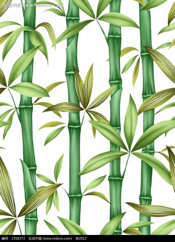手绘竹子分层素材