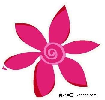 手绘卡通六瓣花