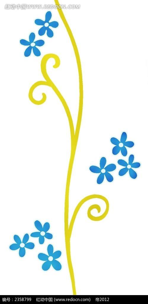 psd花纹边框 花纹花边 > 简笔画花纹  彩色花纹 华丽植物花纹 手绘