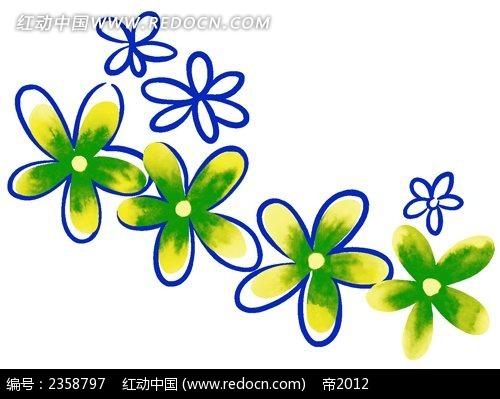 彩色简笔画花朵PSD素材免费下载 编号2358797 红动网