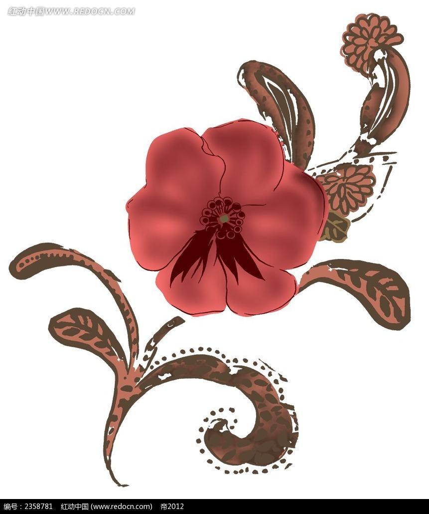 复古手绘花纹