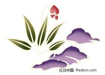 铃兰花彩色植物装饰画