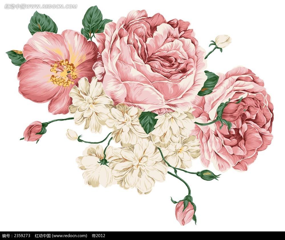 精致的手绘花束