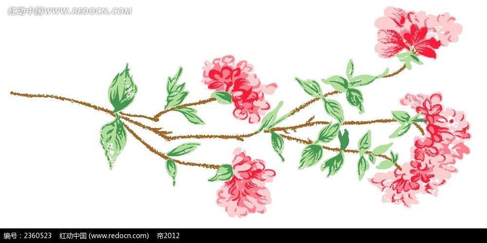 彩色铅笔花卉