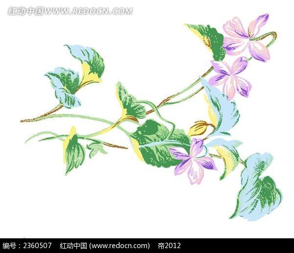 彩色花卉植物素材