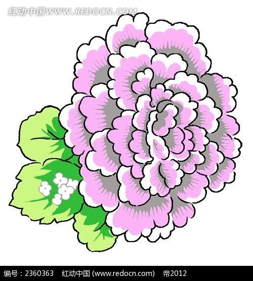 彩色手绘花卉图