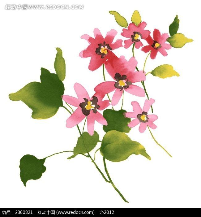 可爱手绘水彩花