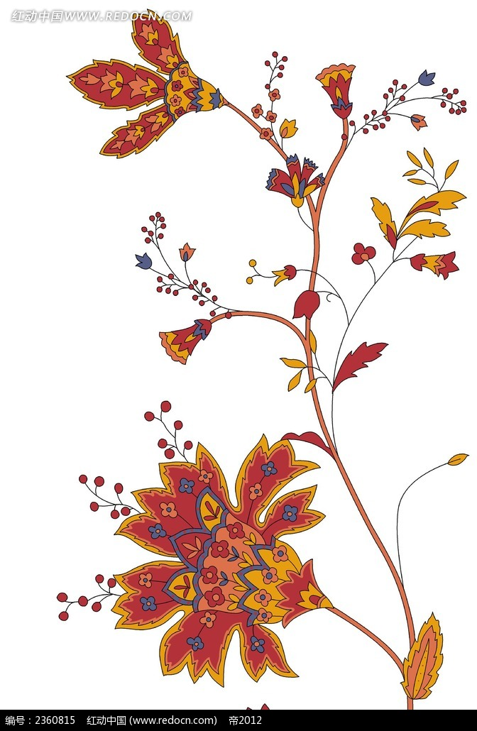 东南亚风格植物绘画