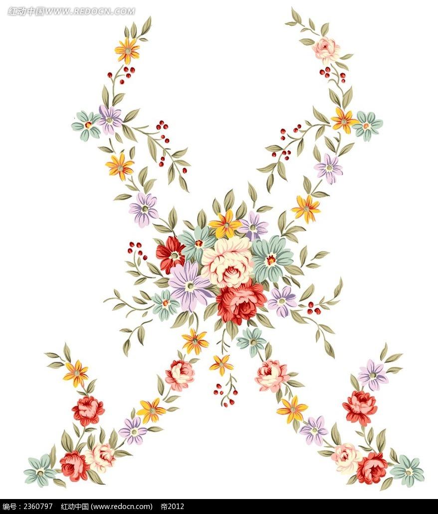 可爱的手绘玫瑰花束psd免费下载_花纹花边素材