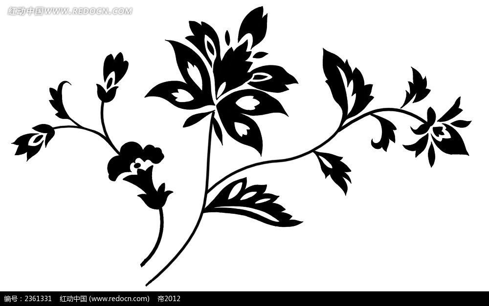 黑白手绘花边图片展示