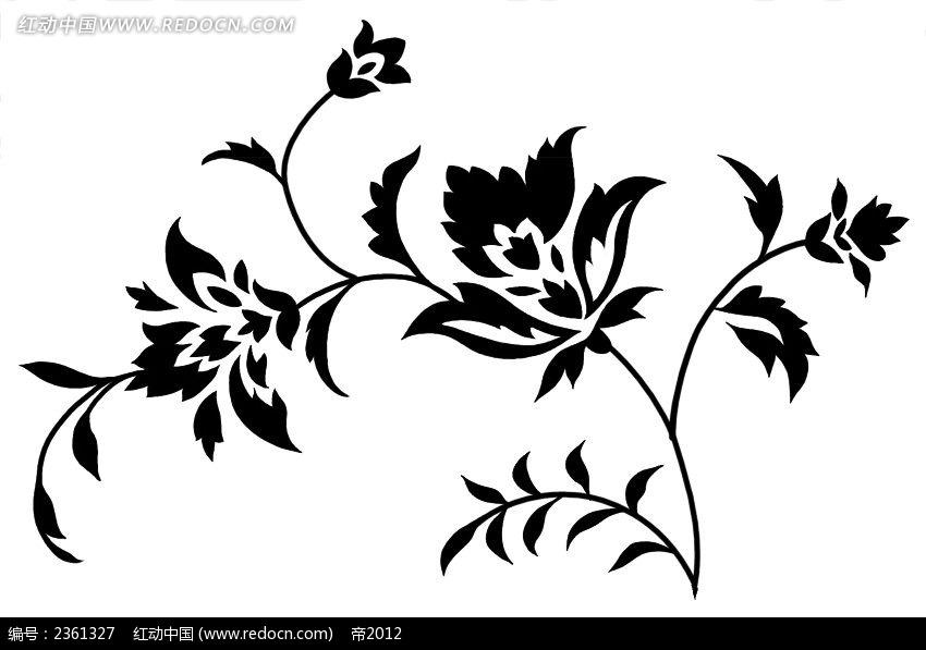 手绘植物psd素材