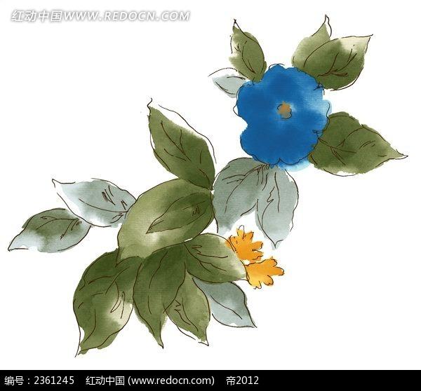 ps水彩花朵背景图_花纹花边_红动手机版