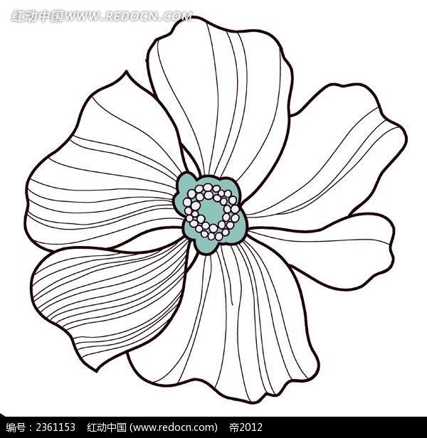 手绘线条花纹图片