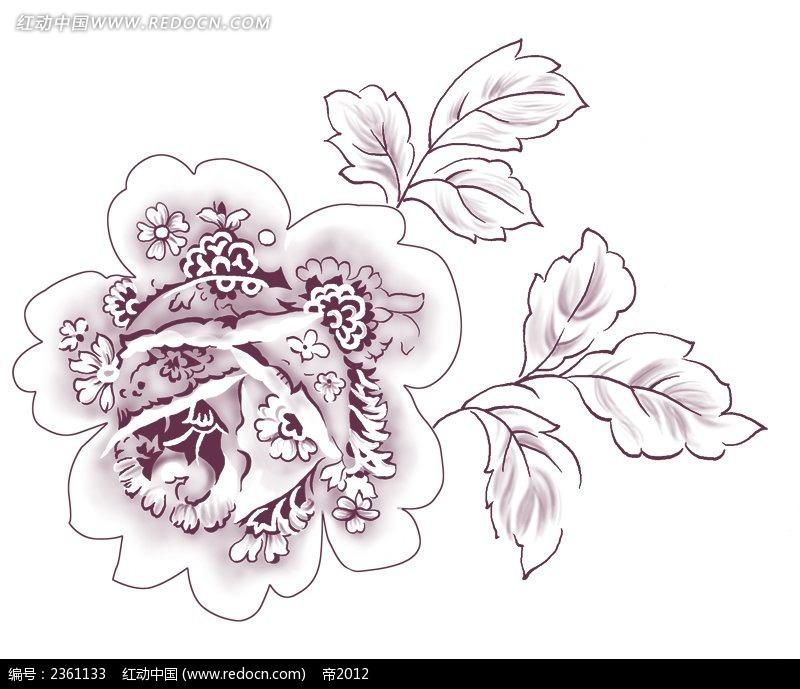 装饰牡丹花设计素材