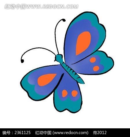 彩色蝴蝶简笔画步骤
