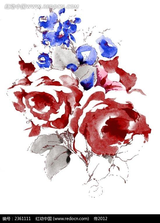 水粉手绘花卉图片