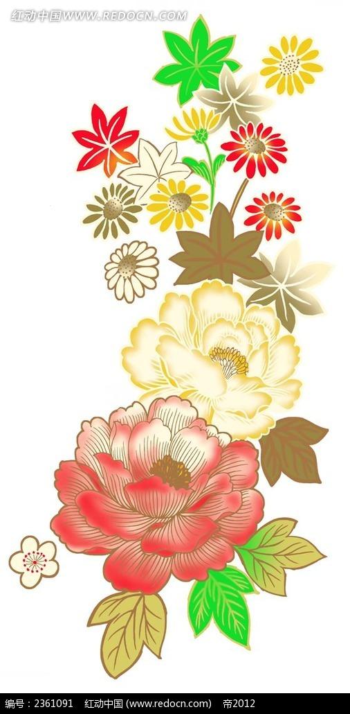 免费素材 psd素材 psd花纹边框 花纹花边 插图牡丹花素材