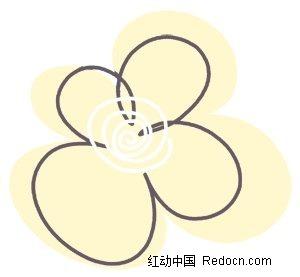 简笔画花朵PSD素材免费下载 编号2361033 红动网