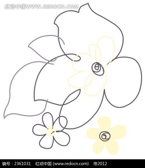 手绘简笔画花卉-花卉简笔画 一束玫瑰