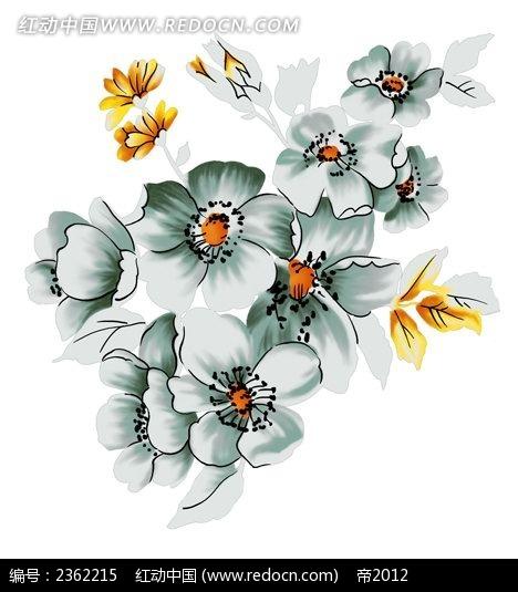 花团锦簇迎春花手绘插画