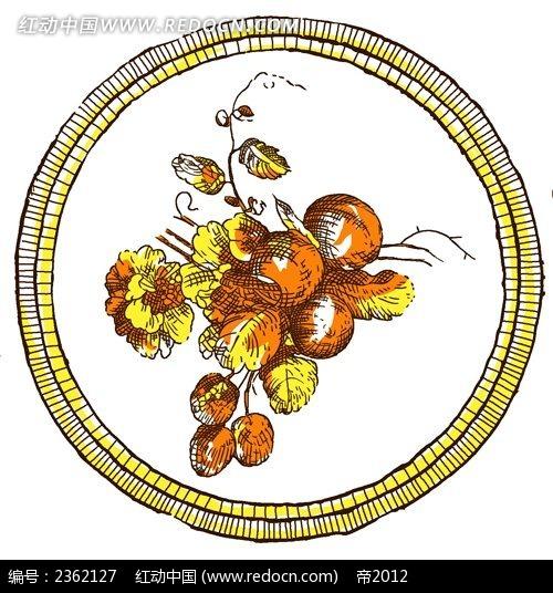 欧式手绘花纹