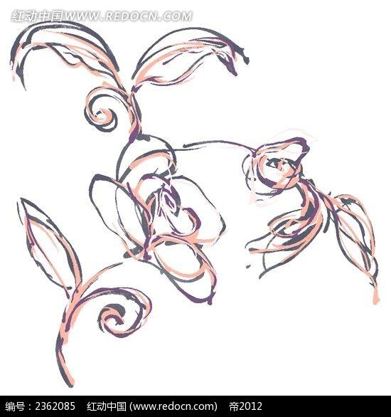 手绘抽象花纹