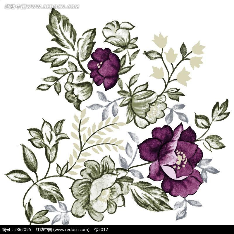 花纹花边 蔷薇水彩手绘插图  请您分享: 红动网提供花纹花边精美素材
