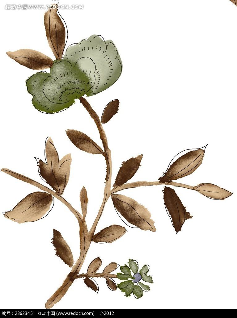 水彩花卉手绘素材