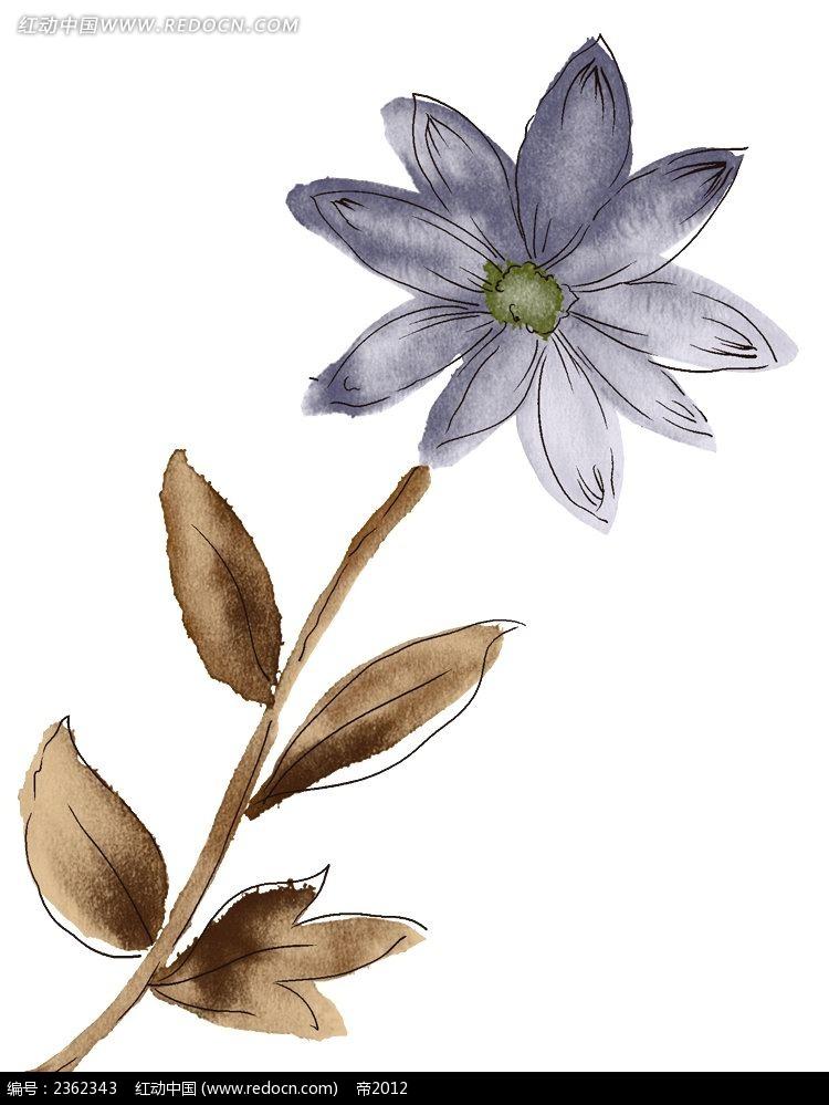手绘水墨花卉