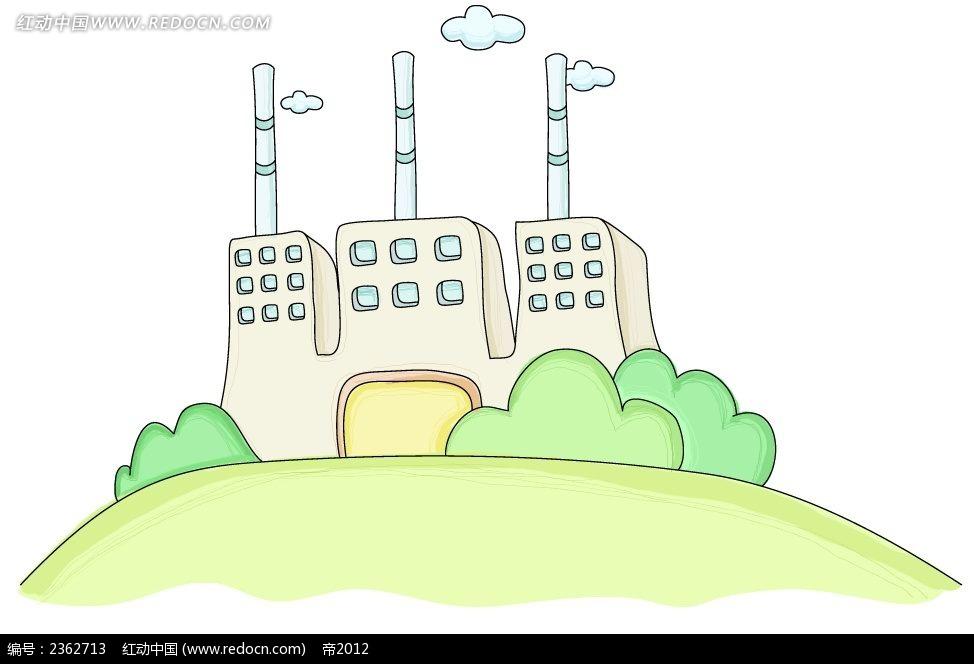 手绘烟囱工厂