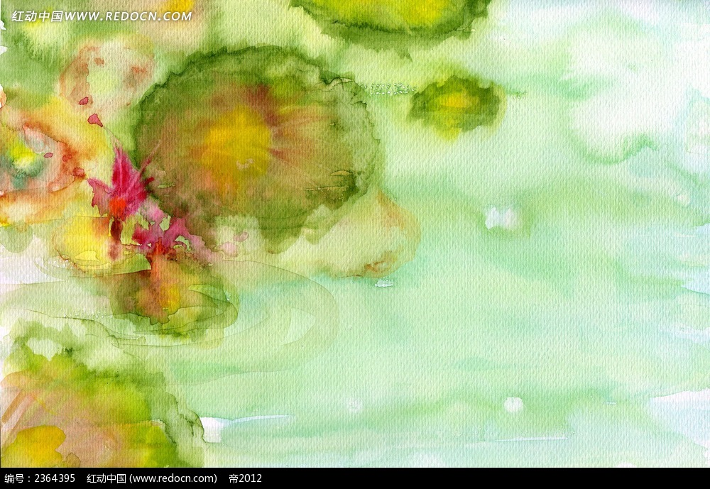 夏天荷花池塘简笔画图片