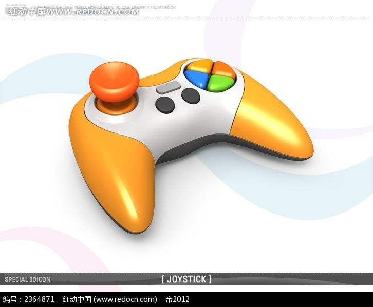 立体游戏手柄图标PSD素材免费下载 红动网