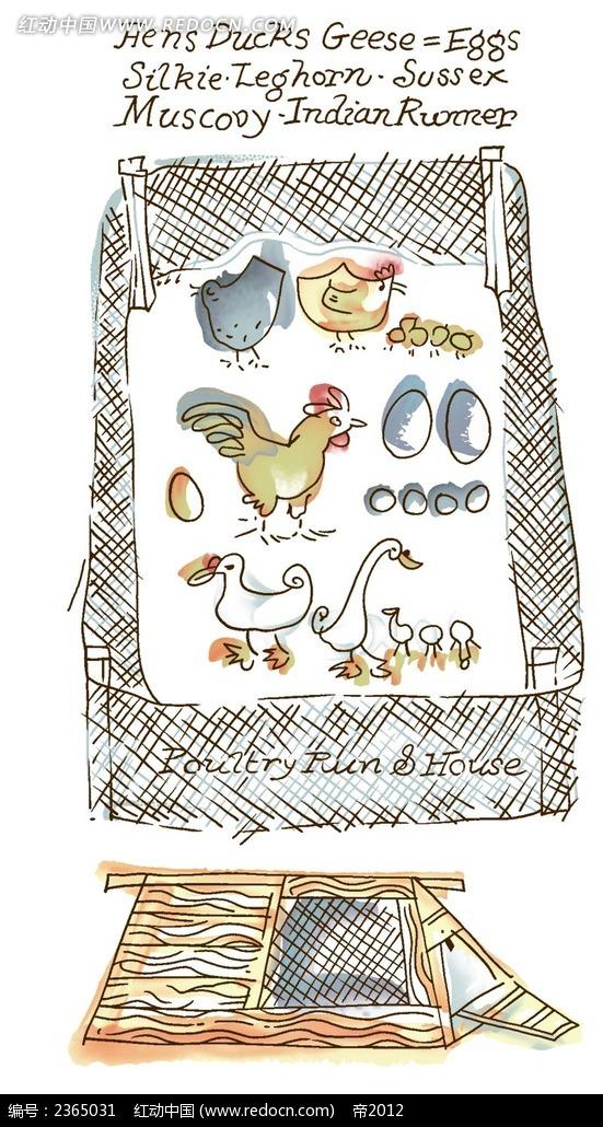 漫画 插画 插图 卡通 插图 线描 手绘 花纹 绘画 色稿  纹饰 水彩