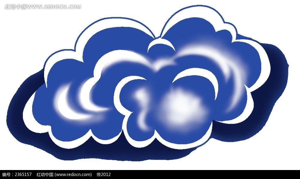 云朵手绘水彩物品漫画