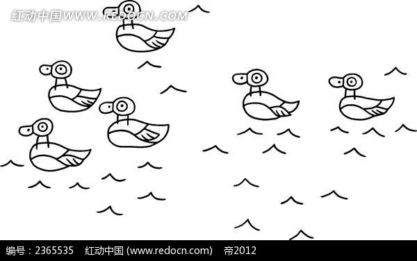 鸭子简笔画插图