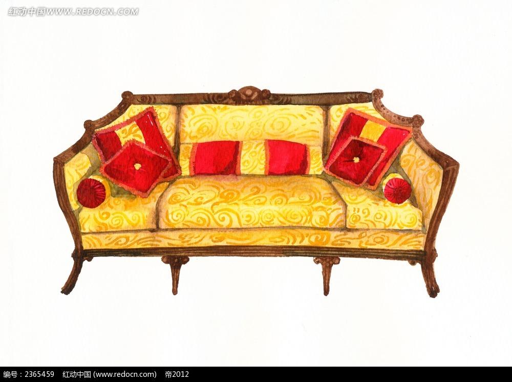 手绘古典沙发
