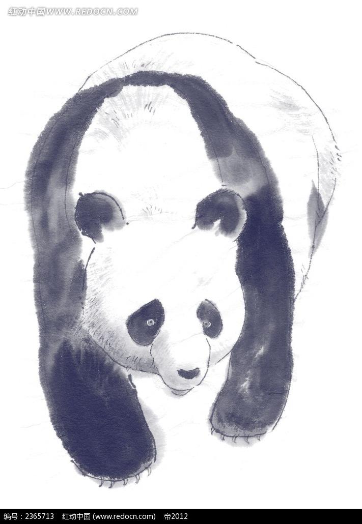 手绘熊猫素材