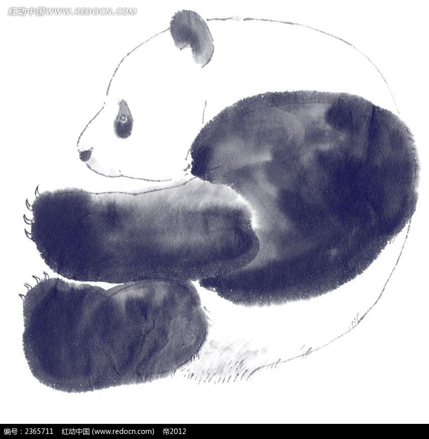 水彩大熊猫卡通漫画