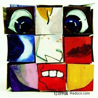 人物表情抽象画
