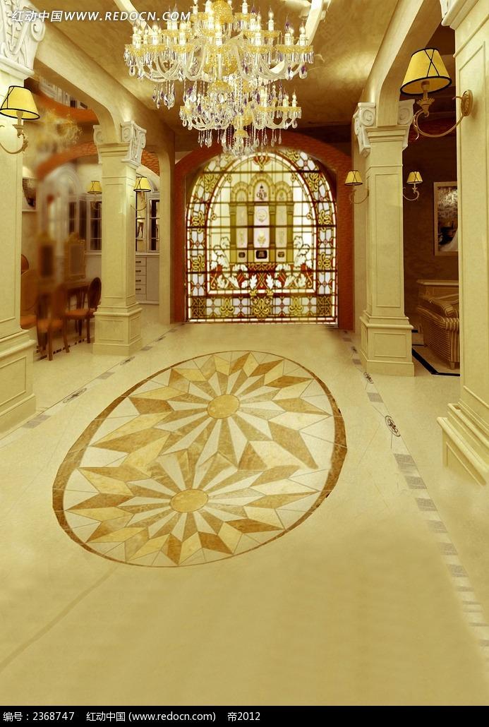 欧式建筑室内婚纱照模板