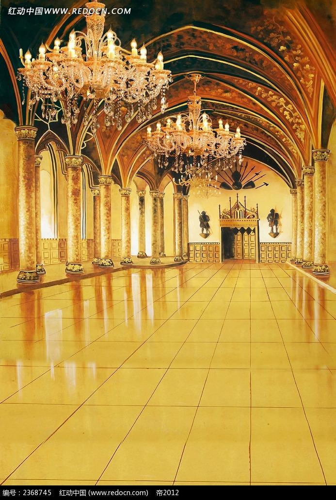 欧式建筑室内景图片