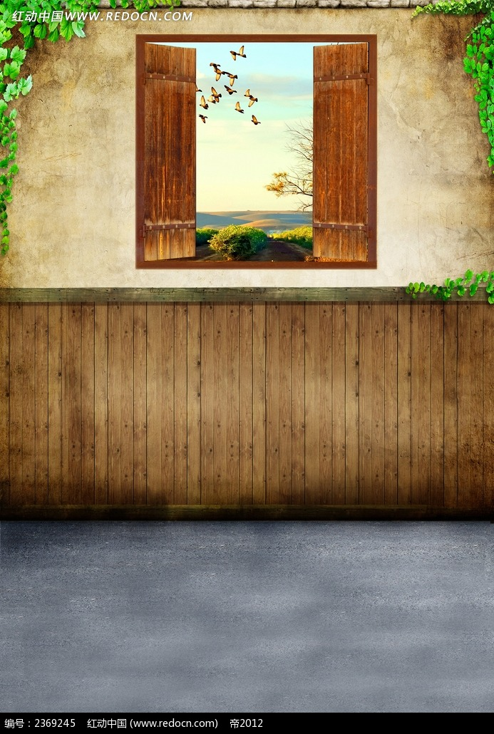 窗外风景图片素材