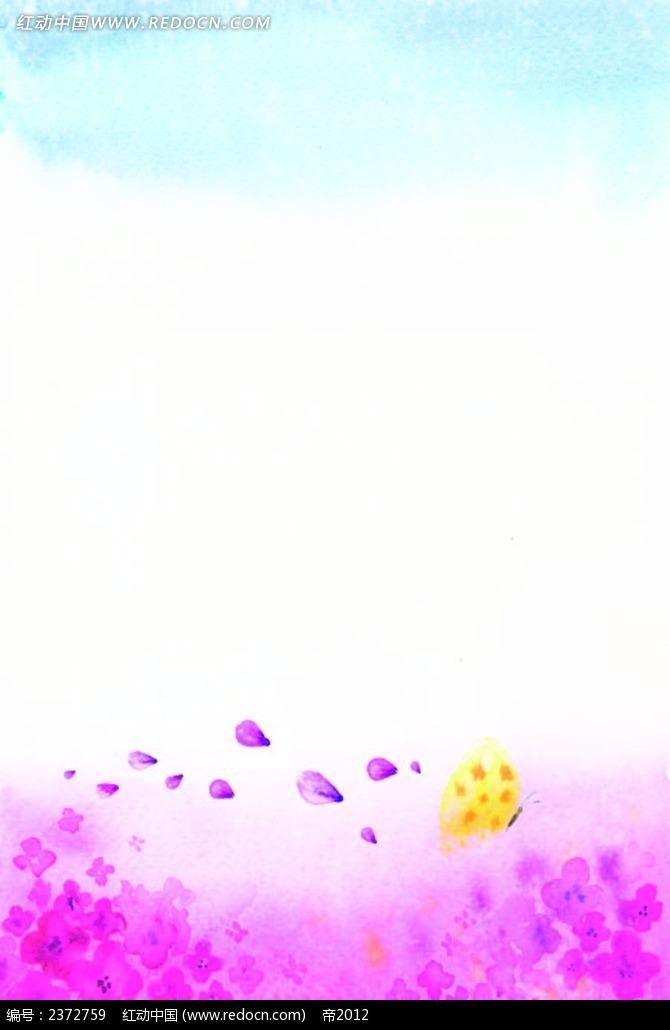 唯美小花边框背景图