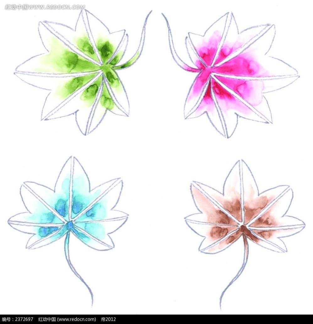 水彩枫叶手绘画