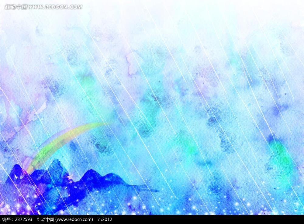 清新水彩画背景图