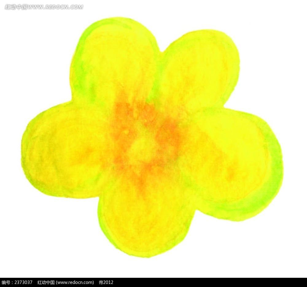 黄色小花水彩画