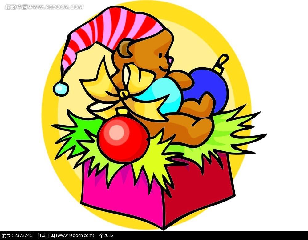 圣诞小熊礼物图形设计